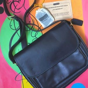Authentic black coach shoulder/crossbody bag